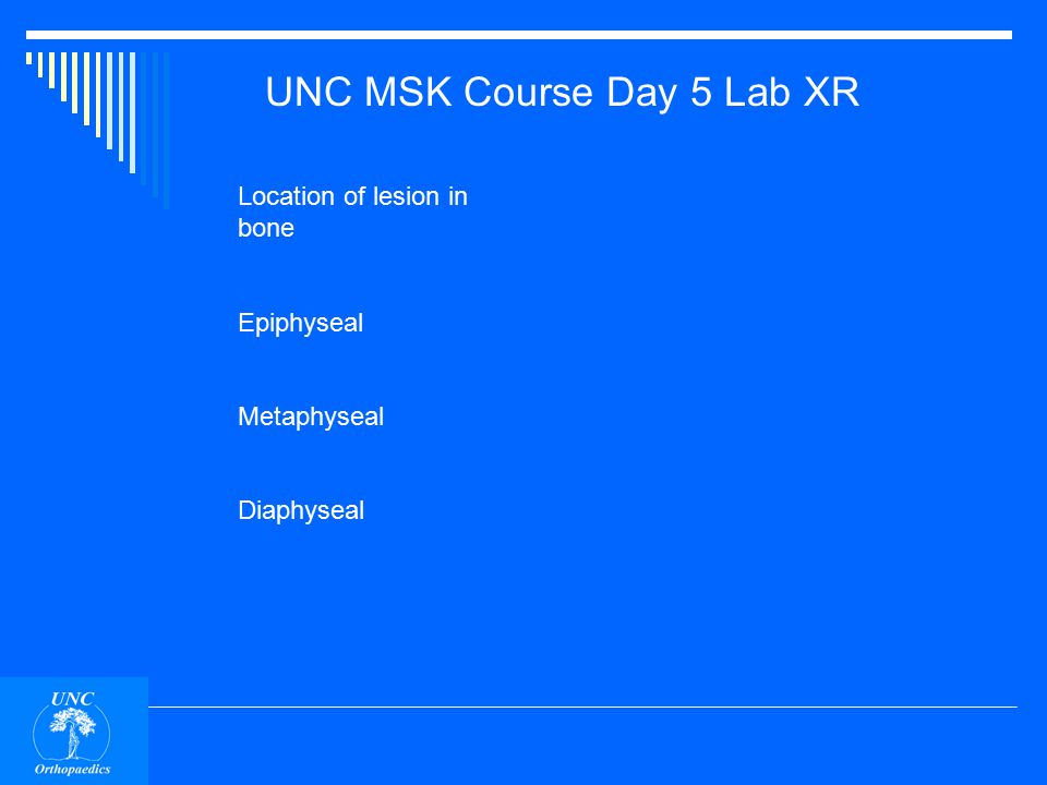 UNC MSK Course Day 5 Lab XR UNKNOWNS (for self study)