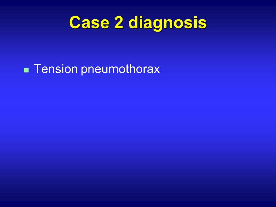 Case 2 diagnosis n Tension pneumothorax