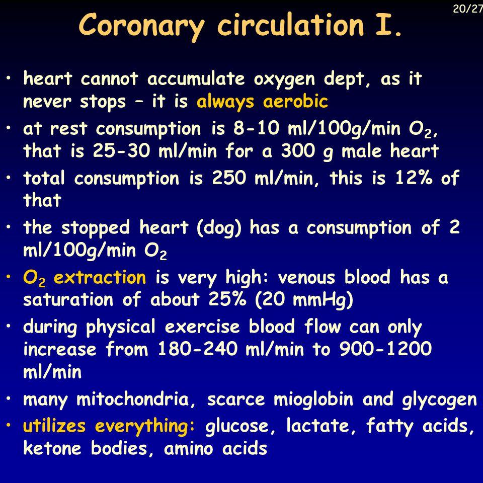 Coronary circulation I.