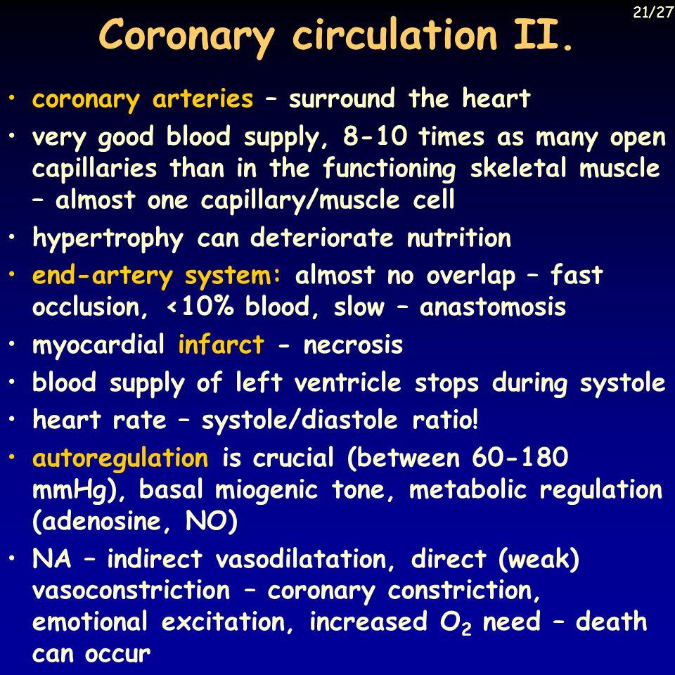 Coronary circulation II.
