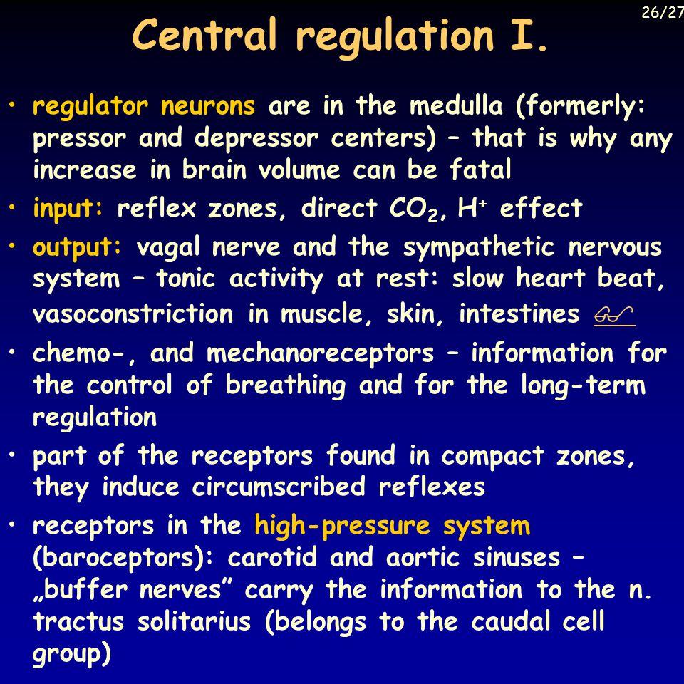 Central regulation I.