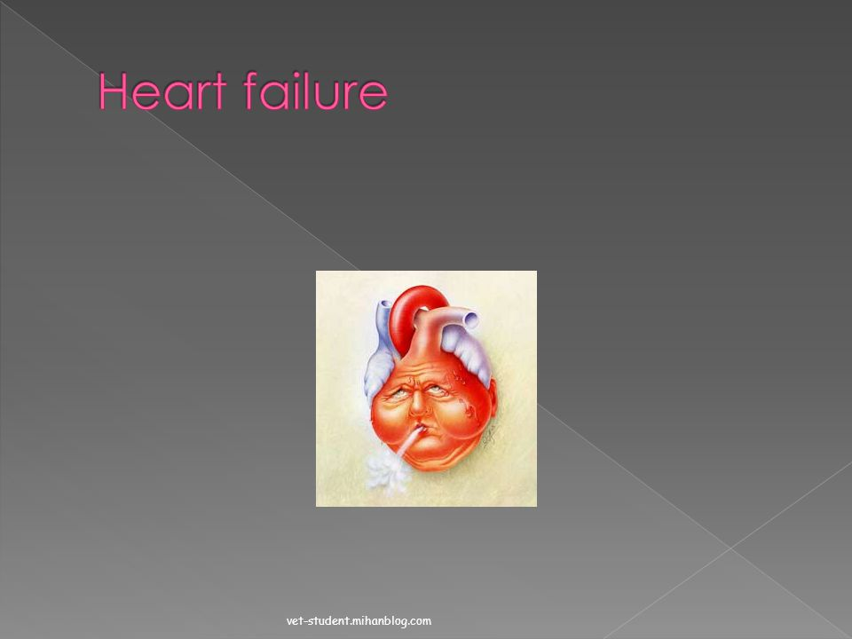  Each may fail independently so we have 2 forms of circulatory failure:  Heart failure(fails as a pump)  Circuit failure(fails to return blood to t