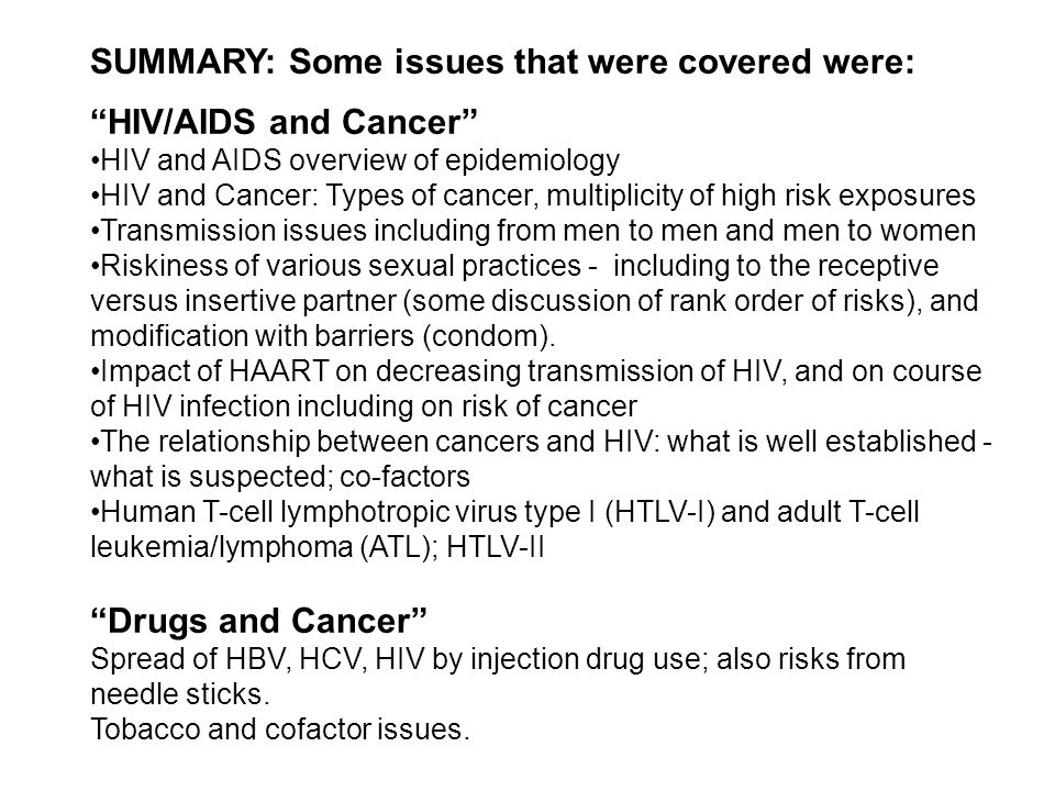 HIV and Sexually Transmitted Infections The effect of HIV infection on the immune system increases the risk of STI's A suppressed immune response due