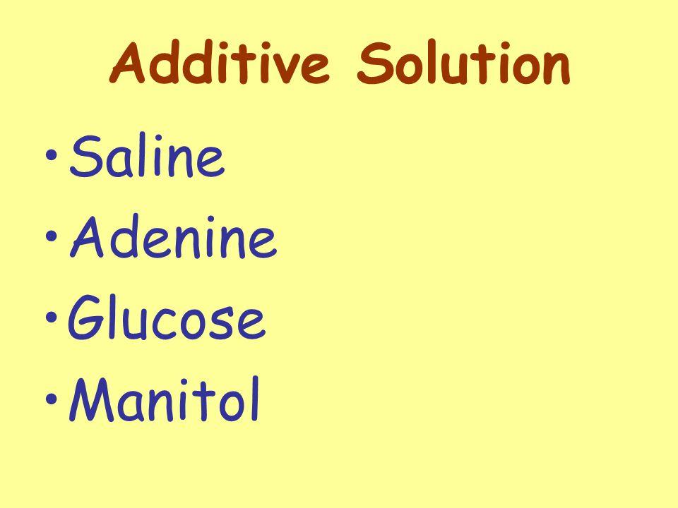 Additive Solution Saline Adenine Glucose Manitol