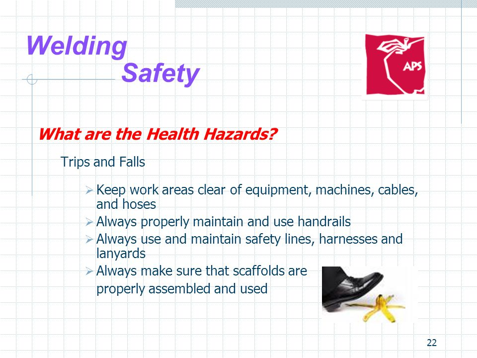 22 Welding Safety What are the Health Hazards.
