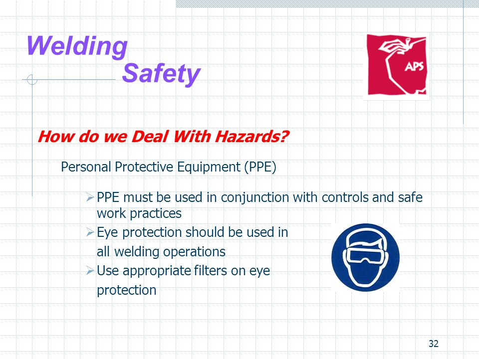32 Welding Safety How do we Deal With Hazards.