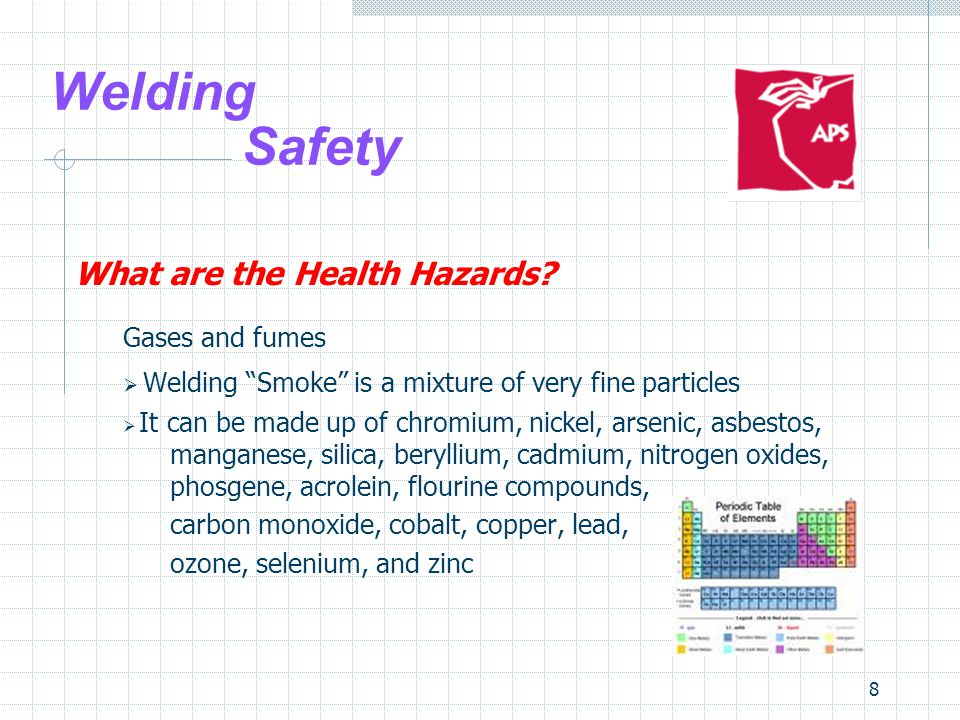 8 Welding Safety What are the Health Hazards.