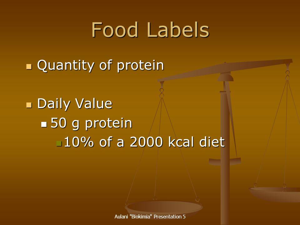 Aulani Biokimia Presentation 5 Protein Quality PDCAAS PDCAAS Protein digestibility-corrected amino acid score Protein digestibility-corrected amino acid score