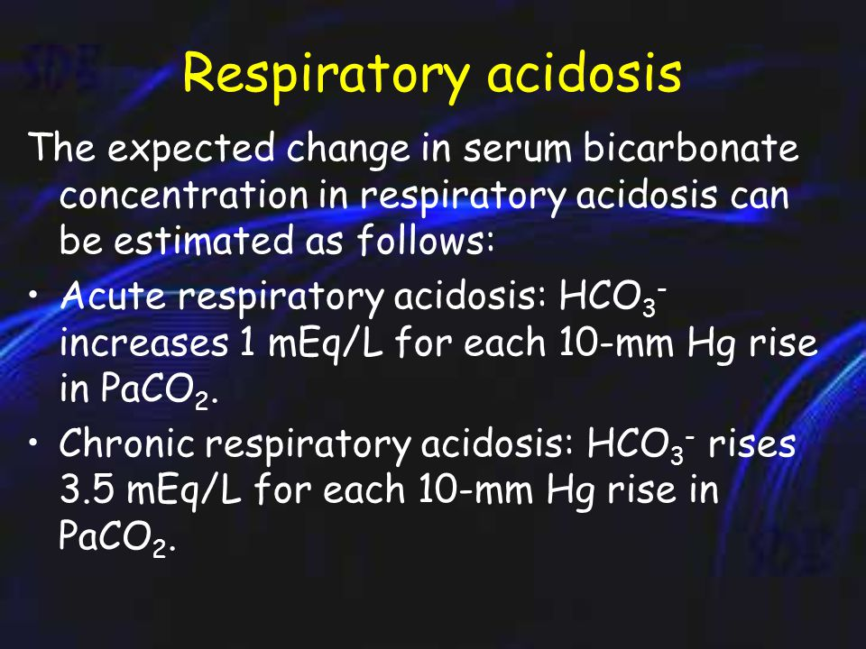Compensation in Respiratory acidosis In acute respiratory acidosis, compensation occurs in 2 steps.