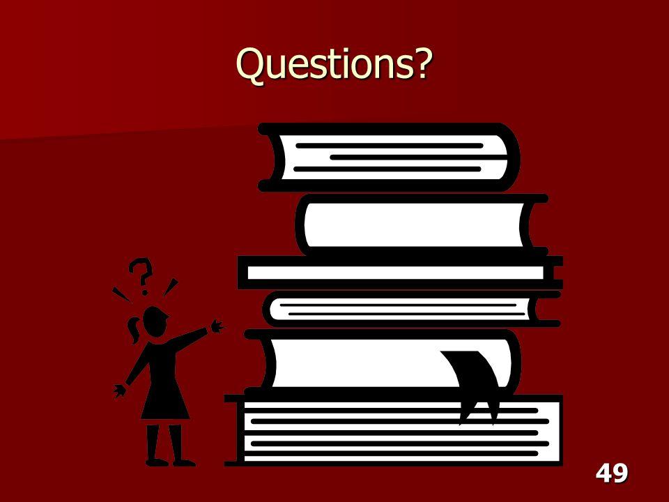 49 Questions?