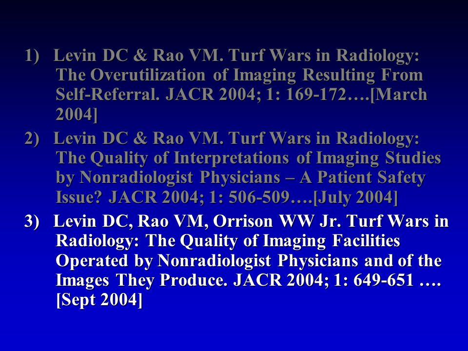 1) Levin DC & Rao VM.