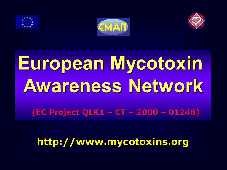 http://www.mycotoxins.org European Mycotoxin Awareness Network (EC Project QLK1 – CT – 2000 – 01248) (EC Project QLK1 – CT – 2000 – 01248)