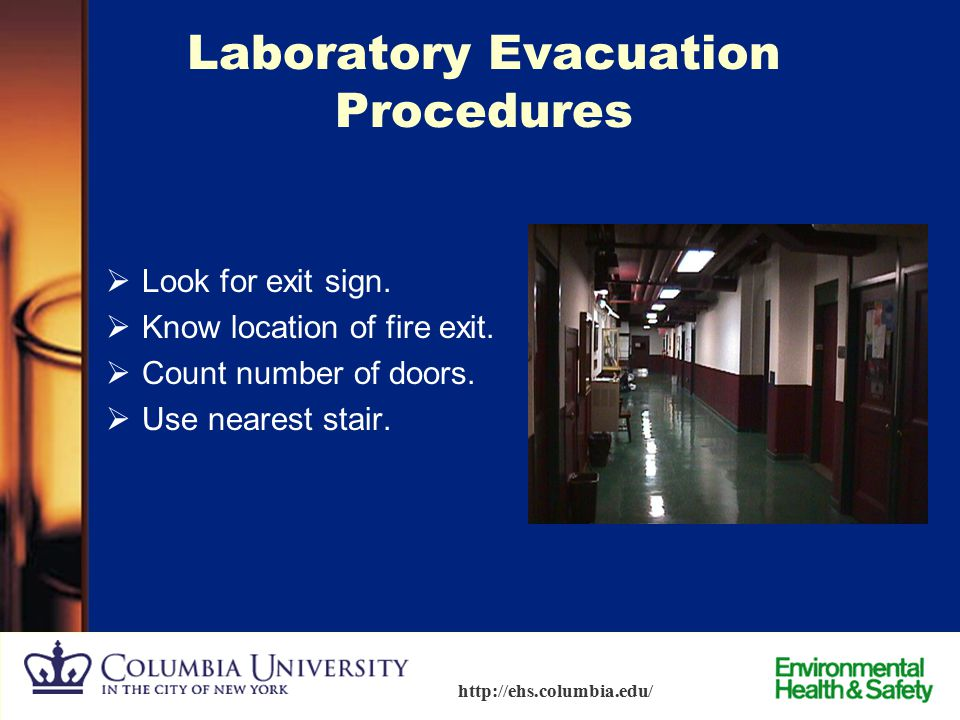 64 http://ehs.columbia.edu/ Know YOUR Location