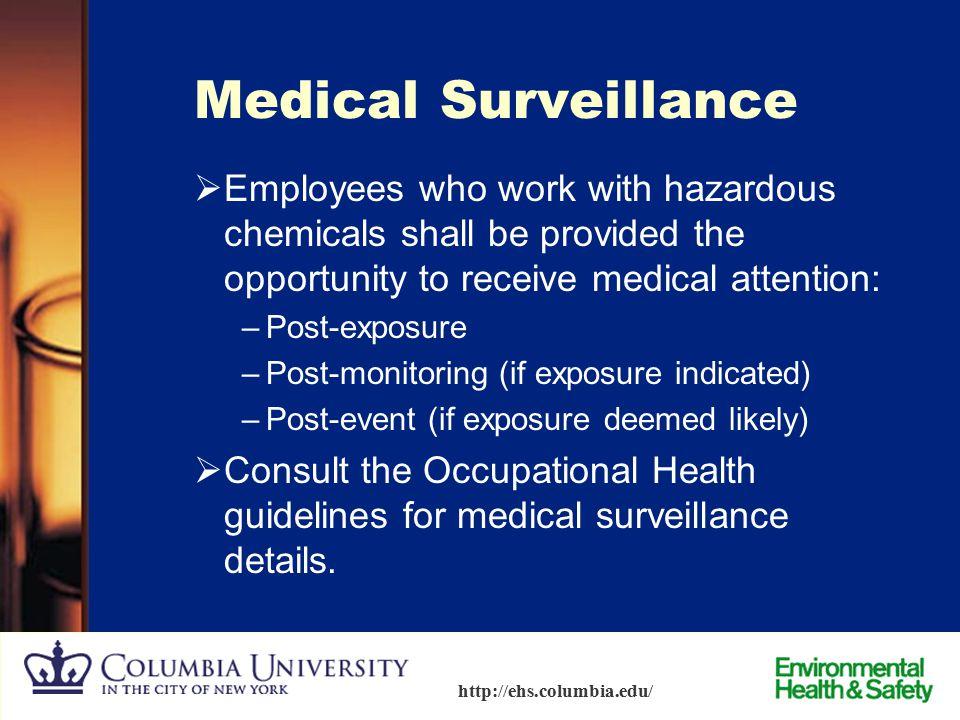 83 http://ehs.columbia.edu/ Spills and Emergency Response – Personal Contamination Spills of hazardous materials that involve personal contamination i