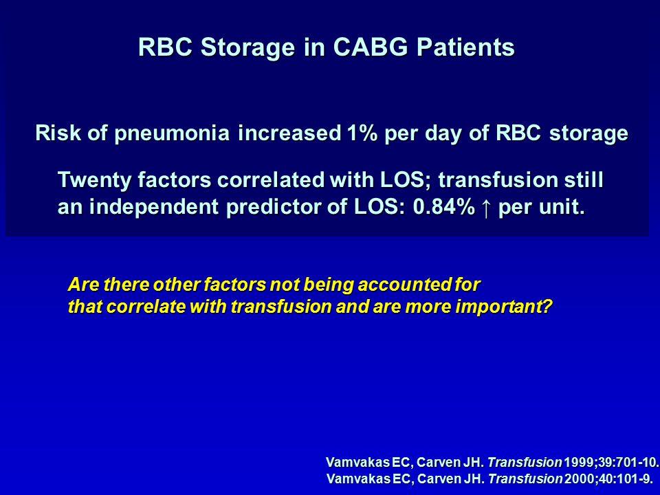 Vamvakas EC, Carven JH. Transfusion 1999;39:701-10.