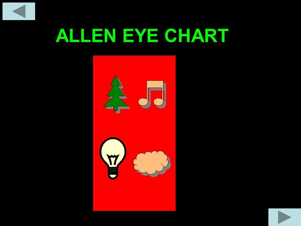 ALLEN EYE CHART