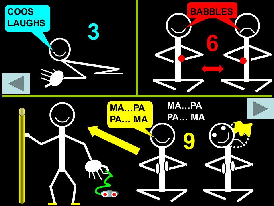 COOS LAUGHS BABBLES 3 6 MA…PA PA… MA 9 MA…PA PA… MA