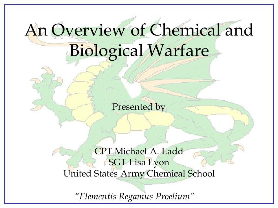 Elementis Regamus Proelium SARIN - GB Non-Persistent Nerve Agent Appearance: colorless liquid Odor: almost none in pure state Vapor density: 4.86 times heavier than air