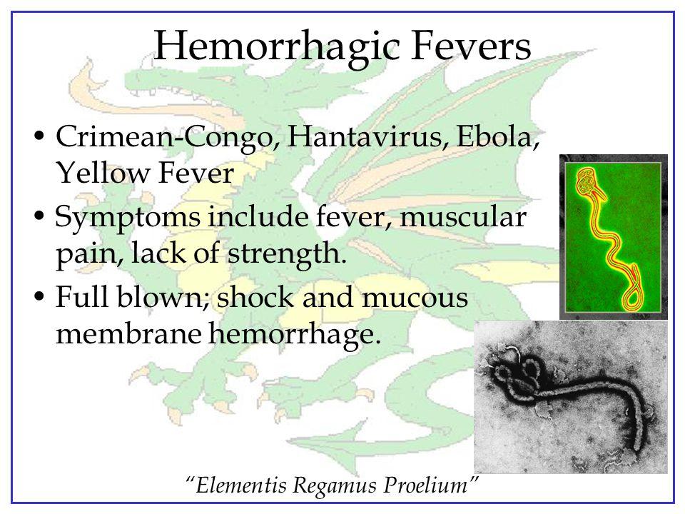 """""""Elementis Regamus Proelium"""" Selected Potential Agents Anthrax Plague Smallpox Hemorrhagic Fevers"""