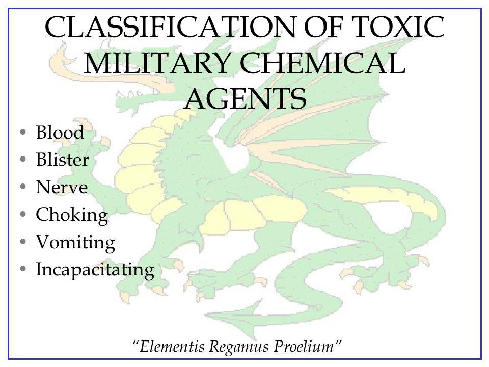 """Elementis Regamus Proelium"" NONPERSISTENT CHEMICAL AGENTS Usually a colorless, odorless (or faint odor) gas or vapor Same physical behavior as smoke"
