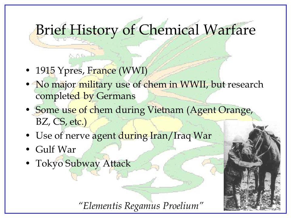 """Elementis Regamus Proelium"" Agenda Chemical Warfare Biological Warfare Question and Answer Period"