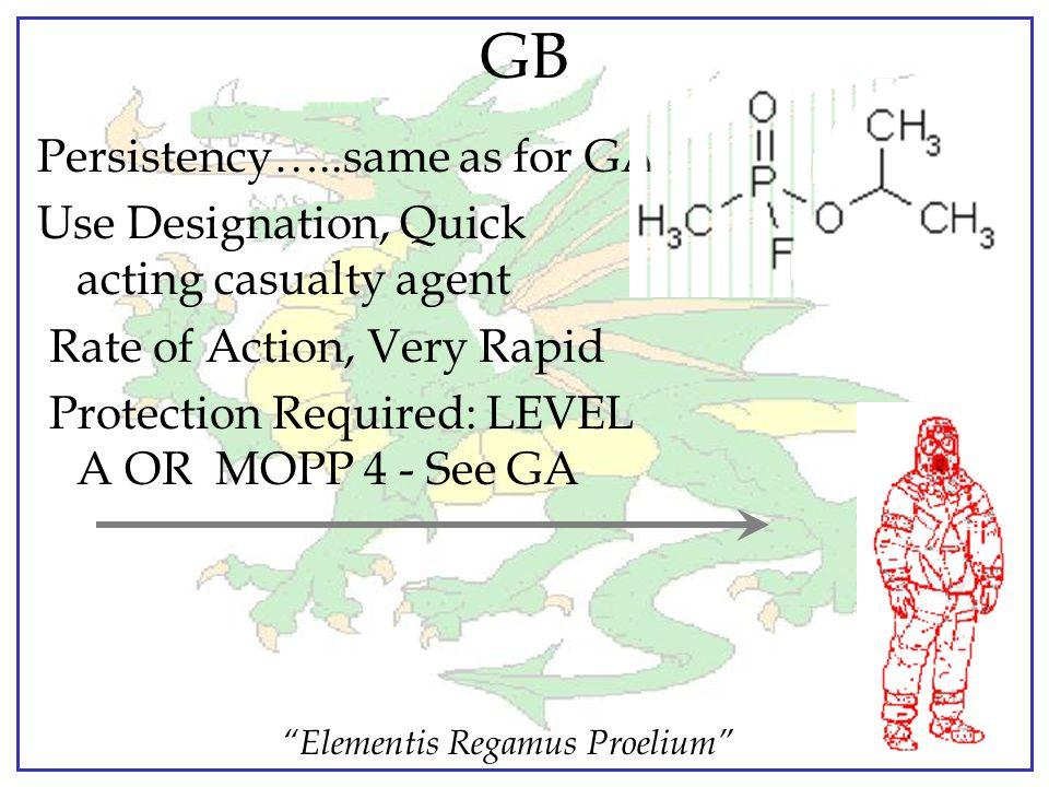 """""""Elementis Regamus Proelium"""" SARIN - GB Non-Persistent Nerve Agent Appearance: colorless liquid Odor: almost none in pure state Vapor density: 4.86 ti"""