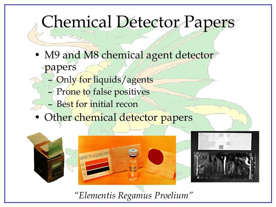 """""""Elementis Regamus Proelium"""" Chemical Detection and Identification Suite"""