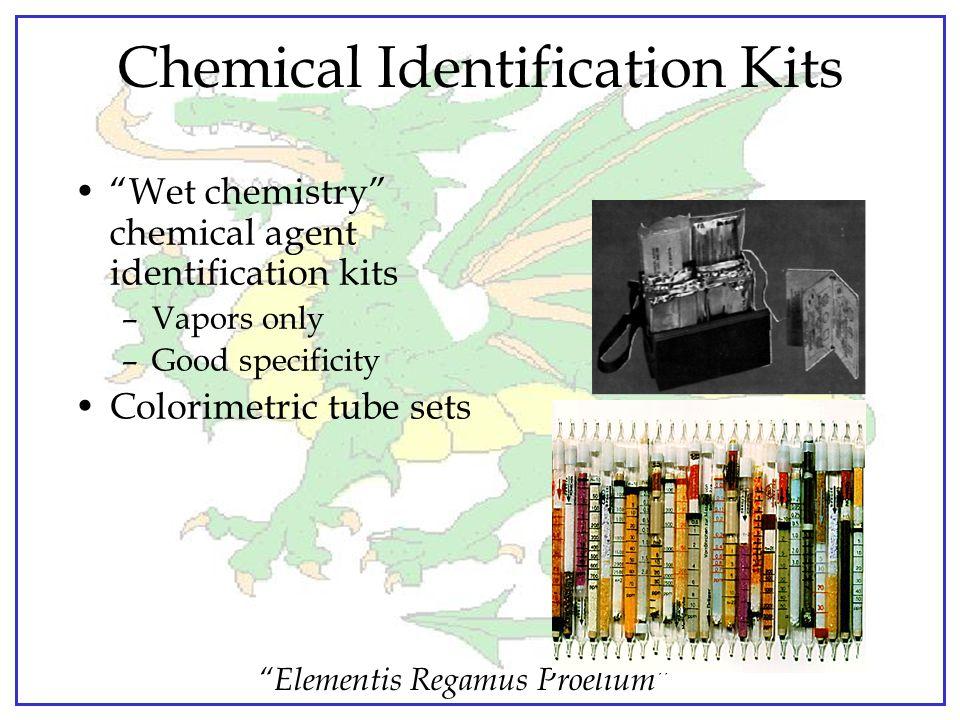 """Elementis Regamus Proelium"" Chemical Detector Papers M9 and M8 chemical agent detector papers –Only for liquids/agents –Prone to false positives –Bes"