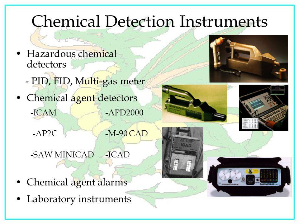"""Elementis Regamus Proelium"" Colorimetric Tubes Capabilities: –Detect, identify family of chemicals: nerve and blister agents –Identify, quantify (ppm"