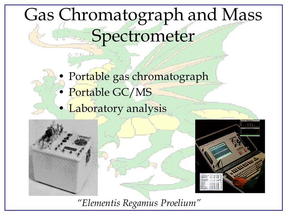 """Elementis Regamus Proelium"" Chemical Agent Monitor Capabilities: –Point detection of nerve, blister agents –Detects down to IDLH –Semi-quantitative i"
