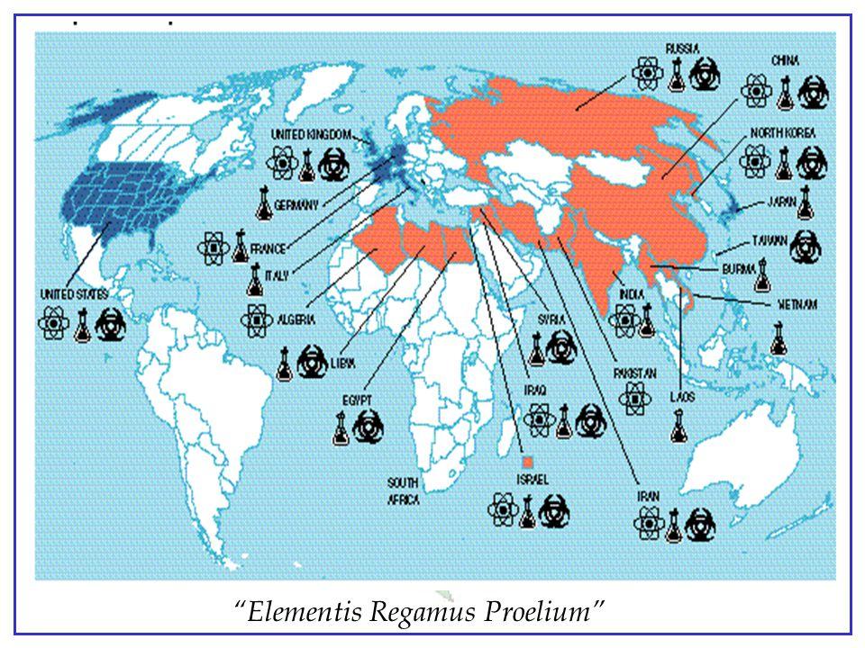 """Elementis Regamus Proelium"" Proliferation Current Proliferation NuclearBiologicalChemical 1980 1998 1980 1998.1980 1998 Number of Countries 514 515 1"