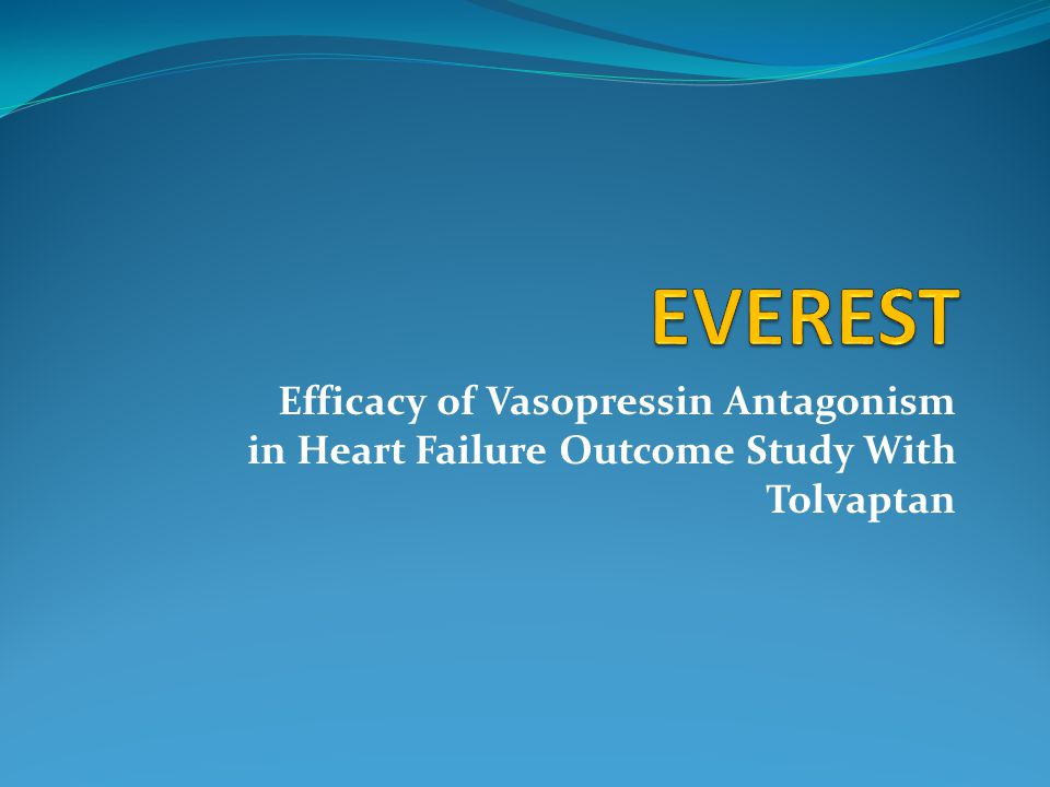 Efficacy of Vasopressin Antagonism in Heart Failure Outcome Study With Tolvaptan