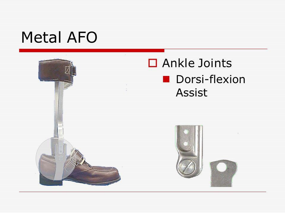 Metal AFO  Ankle Joints Dorsi-flexion Assist
