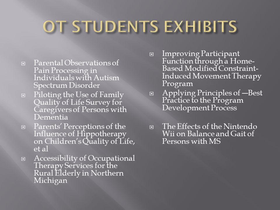 AOTA FACT SHEET EXTENDED LEARNING AND JOB OPPORTUNITIES