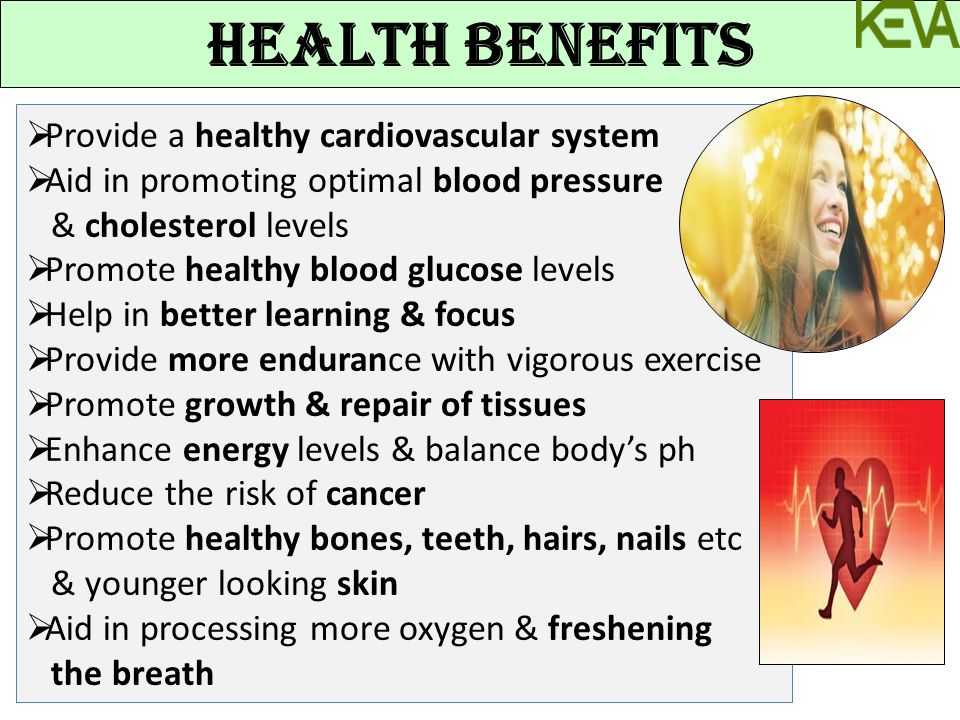  Provide a healthy cardiovascular system  Aid in promoting optimal blood pressure & cholesterol levels  Promote healthy blood glucose levels  Help
