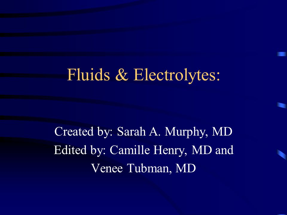 Fluid and Electrolyte Emergencies in Critically Ill Children Case Studies:
