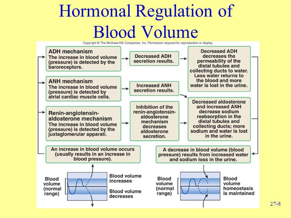 27-8 Hormonal Regulation of Blood Volume