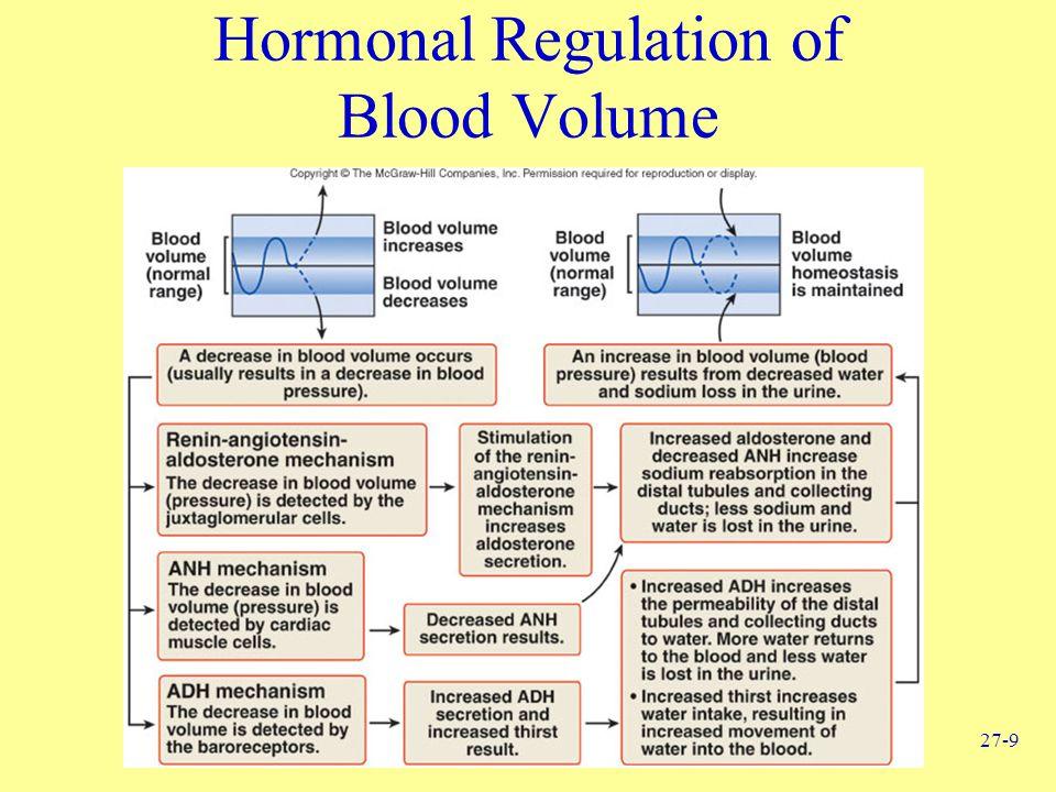 27-9 Hormonal Regulation of Blood Volume