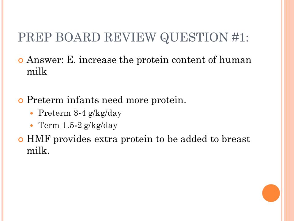 PREP BOARD REVIEW QUESTION #1: Answer: E.