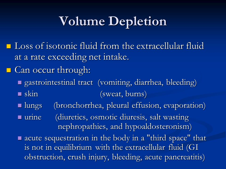 Loss of isotonic fluid from the extracellular fluid at a rate exceeding net intake.