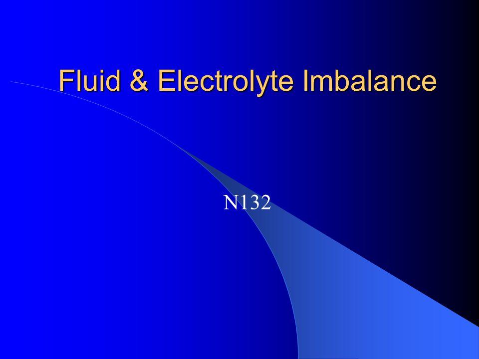 Hyponatremia (<135mEq/L) Contributing Factors – Excessive diaphoresis – Wound Drainage – NPO – CHF – Low salt diet – Renal Disease – Diuretics