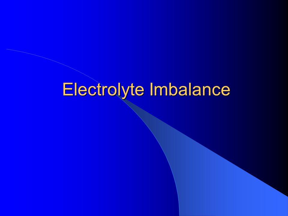 Electrolyte Imbalance