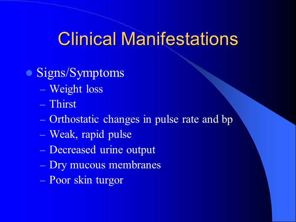 Hypokalemia (<3.5mEq/L) Contributing factors: – Diuretics – Shift into cells – Digitalis – Water intoxication – Corticosteroids – Diarrhea – Vomiting