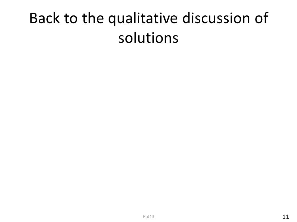 Back to the qualitative discussion of solutions 11 Ppt13