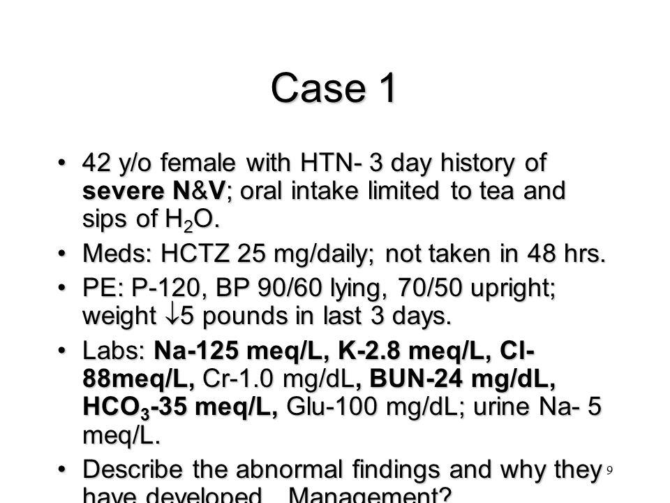 30 Hypernatremia with Dilute Urine Diabetes Insipidus:  thirst,  H 2 O (polydipsia)Diabetes Insipidus:  thirst,  H 2 O (polydipsia) Urine osmolality < 250 mosm/kg.Urine osmolality < 250 mosm/kg.
