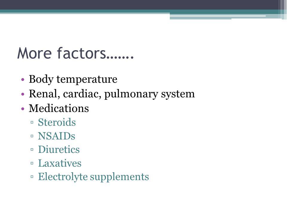 More factors…….