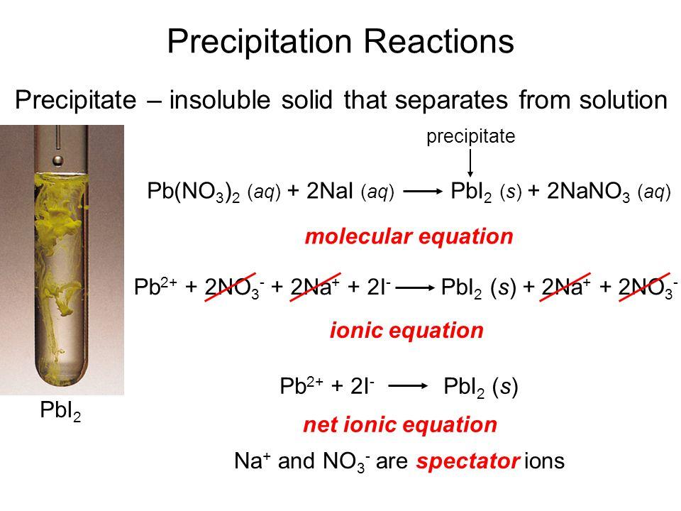 Writing Net Ionic Equations 1.Write the balanced molecular equation.