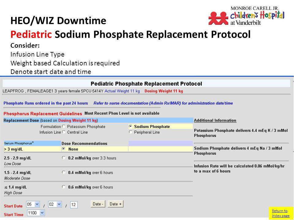 HEO/WIZ Downtime Pediatric Ammonol + ArginineProtocol Return to index page