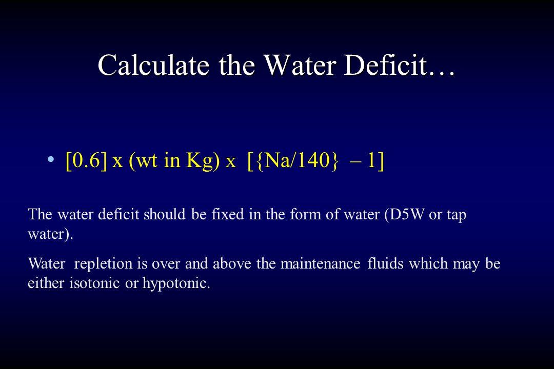 Pathways of Water Balance