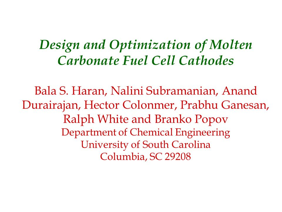 To develop a three phase homogeneous model using volume averaging technique to characterize the performance of the MCFC cathode.
